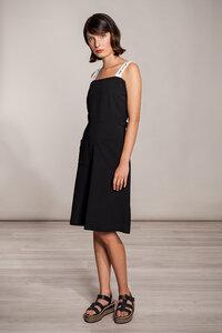 Kurzes Kleid schwarz taillen-verstellbarTräger weiß - SinWeaver atternative fashion