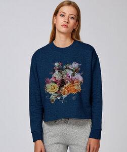 Crop Sweatshirt mit Motiv/ Blossom - Kultgut