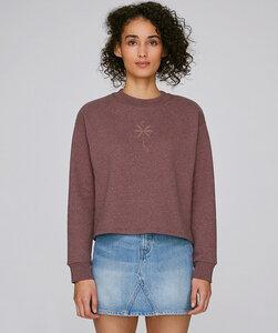 Crop Sweatshirt mit Motiv/ Palm - Kultgut