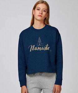 Crop Sweatshirt mit Motiv/ Namaste - Kultgut