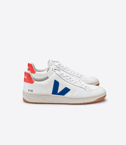 Sneaker Damen - V-12 B-Mesh - White Indigo Orange Fluo - Veja