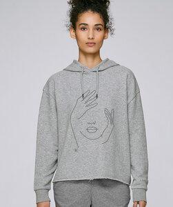 Modernstyle Hoodie mit Motiv / Face - Kultgut
