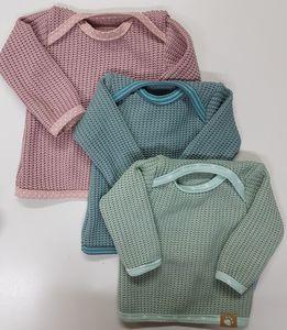 Baby-Strickshirt pastell  - Omilich