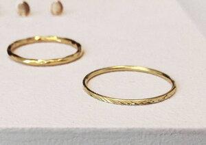 Schmaler Ring - Facettenschliff - 925er Sterling Silber gold - LUXAA