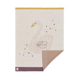 Lässig Babydecke NEU Little Water Swan 100 % Bio-Baumwolle 70 x100 cm   - Lässig