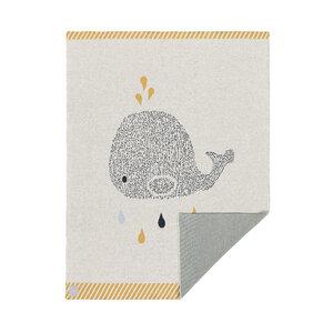 Lässig Babydecke NEU Little Water Whale 100 % Bio-Baumwolle 70 x100 cm   - Lässig