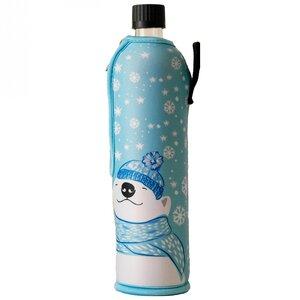 Winteredition Glasflasche mit Neoprenbezug Eisbär - Dora