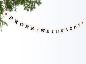 FROHE WEIHNACHT Girlande - renna deluxe