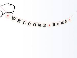 WELCOME HOME Girlande - renna deluxe