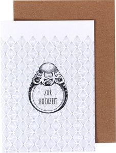 Grußkarte Perlenring - zur Hochzeit - ava&yves