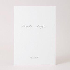 Postkarte Du fehlst - Wimpern - Papier Ahoi