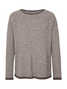 Damen Sweater - Wide Sweater Chiné - Beige - Les Racines Du Ciel