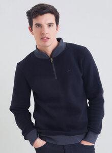 Sweatshirt aus Bio Baumwolle mit Stehkragen und Reissverschluss - ORGANICATION