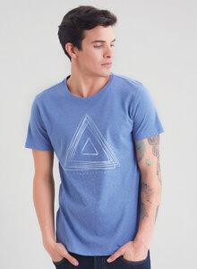 Kurzarm T-Shirt vorne mit Dreieck-Print aus Bio Baumwolle - ORGANICATION