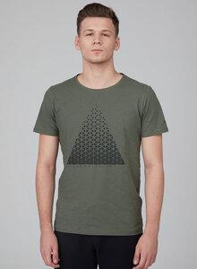 T-Shirt aus Bio Baumwolle mit Dreieck-Print - ORGANICATION