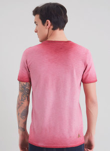 Garment Dyed T-Shirt aus Bio Baumwolle mit Fahrrad-Print - ORGANICATION