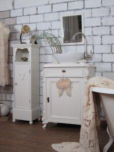 """Badmöbel Landhaus - """"Hommage aux blanc"""" - Wasserheimat Badmöbel Landhaus, Vintage Stil und Shabby Chic"""