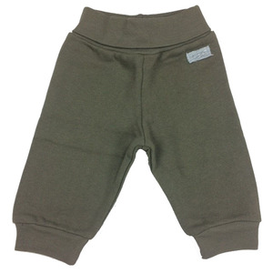Baby Sweat-Hose mit Dehnbund braun - Cotton People Organic