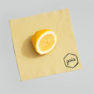 Bienenwachstuch S - 20x20cm - Natur - Gaia Wrap