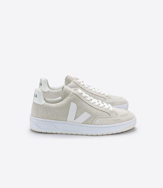 Veja Sneaker Damen V 12 Suede Natural White   Avocadostore