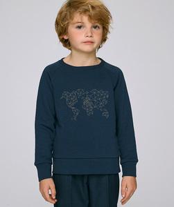 Sweatshirt mit Motiv / Worldmap - Kultgut