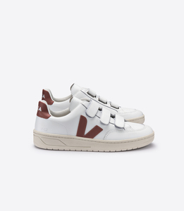 Sneaker Damen - V-12 Velcro V-Lock Leather - Extra White Dried Petale - Veja