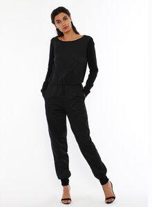 Jumpsuit SATIN mit Rückenausschnitt - aus Bio Baumwolle - LASALINA