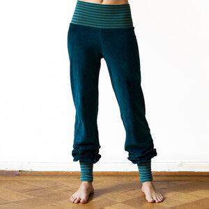 Yoga Hose zum wohlfühlen für Damen in petrol  - Cmig