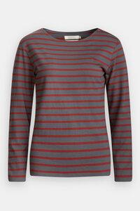 Langarmshirt - Sailor Shirt - Breton Graphite Conker - Seasalt Cornwall