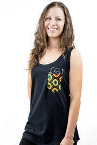 Tank Top 'Taschen-Affe'. Handmade in Tanzania. - Kipepeo-Clothing