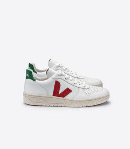Sneaker Herren - V-10 Leather - Extra White Pekin Emeraude - Veja