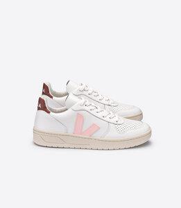 Sneaker Damen - V-10 Leather - Extra White Petal Dried Petal - Veja
