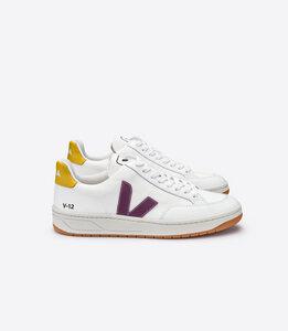 Sneaker Damen - V-12 B-Mesh - White Berry Gold Yellow - Veja