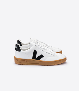 Sneaker Damen - V-12 Leather - Extra White Black Natural Sole - Veja