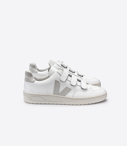 Sneaker Damen - V-12 Velcro Leather - Extra White Natural - Veja