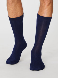 Jimmy Sustainable Bamboo Socks - Navy                          - Thought | Braintree