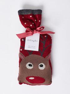 2 Paar Reindeer Sustainable Bamboo Socks in a Bag          - Thought | Braintree