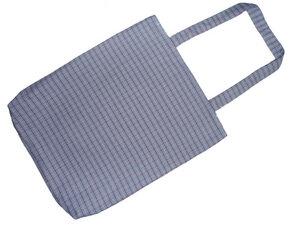 Schultertasche Blau Kariert, Upcycling von Leesha Design - Leesha