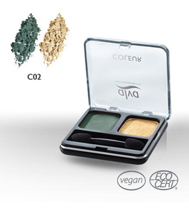Creamy Eye Shadow Duo C2 green crush - alva naturkosmetik
