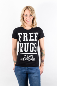 'Free Hugs to save the world' T-Shirt - What about Tee