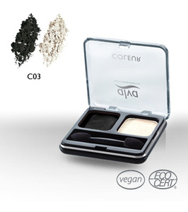 Creamy Eye Shadow Duo C3 smoky black - alva naturkosmetik