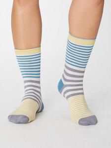Janet Sustainable Bamboo Socks - Lagoon Blue - Thought | Braintree