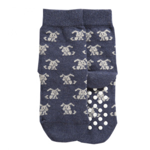 Bio Kinder Socken mit Noppen Hund2 - VNS Organic