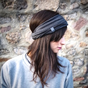 THE HEADBAND / schwarz meliert - LDP Homemade