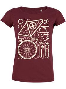 Fahrradteile - Bio und Fairtrade T-Shirt Damen - What about Tee