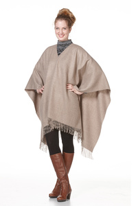 100% Alpaka-Poncho aus Peru (extrem fein) - mehrere Farben verfügbar - Apu Kuntur