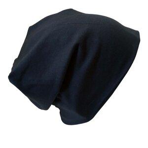 "Mütze ""Line"" uni Blau-Töne und Schwarz - bingabonga"