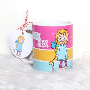 Hochwertiger Kaffeebecher / Tasse 'Hex Hex' - Sternchenwolke