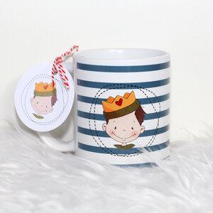 Hochwertiger Kaffeebecher / Tasse 'Ritter Junge' - Sternchenwolke