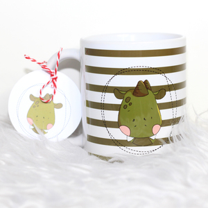 Hochwertiger Kaffeebecher / Tasse 'Ritter Drache' - Sternchenwolke